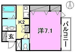 アクス-21[405 号室号室]の間取り