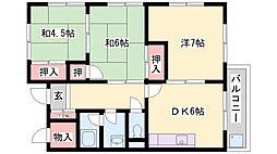 松本マンション[202号室]の間取り