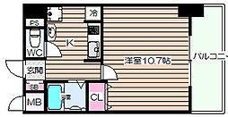 ラフォーレ東天満[8階]の間取り