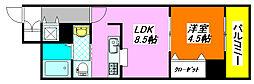 カーサ・ノベンタ 313号室[3階]の間取り