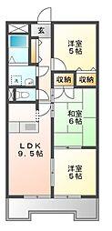 愛知県名古屋市緑区有松三丁山の賃貸マンションの間取り