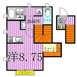 Sakasai Green House[201号室]の間取り
