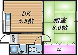 第一モリキマンション[5階]の間取り