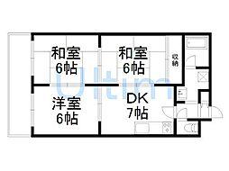 ロイヤルコーポ[5階]の間取り