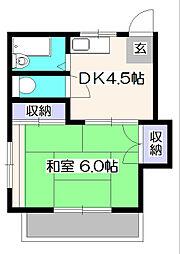 コーポひばりA[2階]の間取り