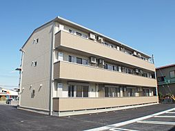 栃木県宇都宮市竹林町の賃貸アパートの外観
