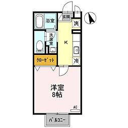 セジュール環水[2階]の間取り