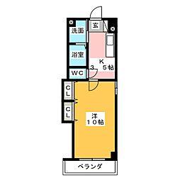 ウィンハイツ勝川[4階]の間取り