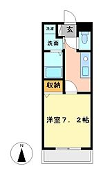 サニーコート松軒[2階]の間取り