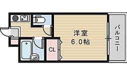 大阪府大阪市東住吉区駒川1丁目の賃貸マンションの間取り
