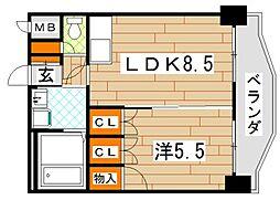 ロイヤルセンターBLD[3階]の間取り