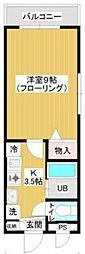 スカイガーデン本羽田 bt[305kk号室]の間取り