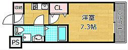 casa片鉾[3階]の間取り