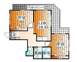 ラフォーレ横山[3階]の間取り