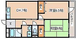 兵庫県神戸市中央区吾妻通6丁目の賃貸マンションの間取り