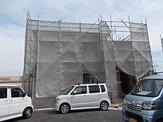現在建築中ですので、構造部分からご確認頂けます。(2017年9月下旬撮影)