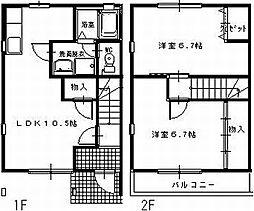 [タウンハウス] 愛知県田原市田原町汐見 の賃貸【/】の間取り