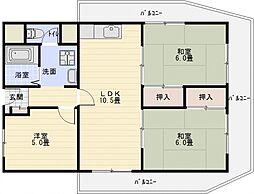 有宏ハイツ[2階]の間取り