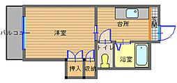 長崎県長崎市東山手町の賃貸マンションの間取り