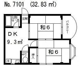 ハイツ中村[1階]の間取り