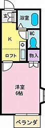 J1甲府第2マンション[1階]の間取り