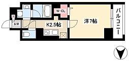 仮)道下町プロジェクト 8階1Kの間取り