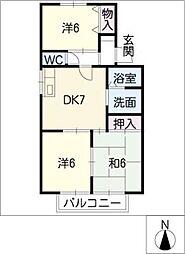 ノーブルカトウ[2階]の間取り