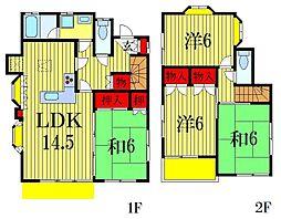 東船橋戸建[2階]の間取り