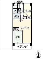 あおいマンション[5階]の間取り