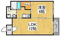 ブランカ堺東[11階]の間取り