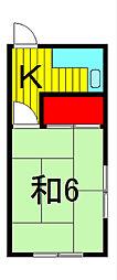 添田荘[2階]の間取り