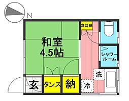 横沢荘[B号室]の間取り