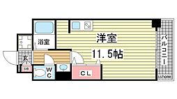 グランディア・ミ・アモーレ六甲道[402号室]の間取り