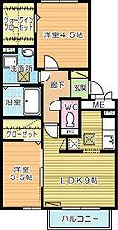 桜橋山荘[2階]の間取り