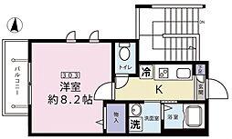 東京都練馬区上石神井4丁目の賃貸マンションの間取り