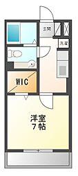 神奈川県川崎市宮前区菅生4丁目の賃貸アパートの間取り