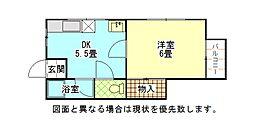 コーポ篠崎A棟[2階]の間取り