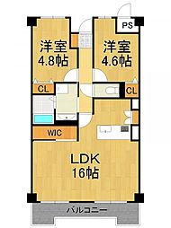 LUXE武庫之荘[2階]の間取り