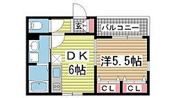 兵庫県神戸市兵庫区小河通3丁目の賃貸マンションの間取り