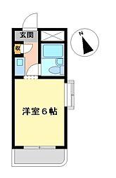 ドール神宮西[4階]の間取り