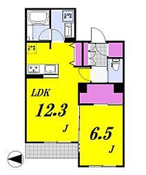 ラ・ルーチェ[105号室]の間取り