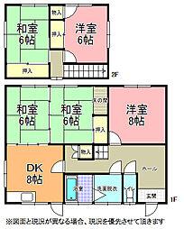 [一戸建] 茨城県水戸市平須町 の賃貸【茨城県 / 水戸市】の間取り