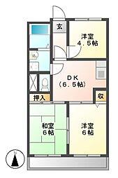 ニューコーポ上野[2階]の間取り