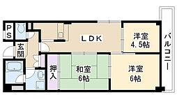 パークサイドマンション[403号室]の間取り