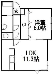 サニープレイスI[2階]の間取り