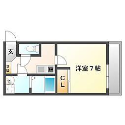 兵庫県神戸市須磨区東町1丁目の賃貸アパートの間取り