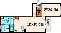 ルミエール新森II[2階]の間取り