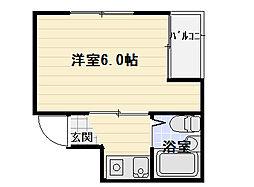 大阪府守口市大枝南町の賃貸マンションの間取り