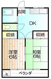 東豊ハイツ[102号室]の間取り