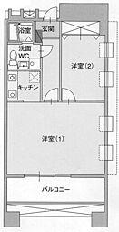 サングレートESAKA2[10階]の間取り